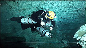 Side Mount Stage Cave Diver